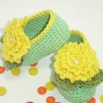 sarı yeşil şık bebek patik örnekleri