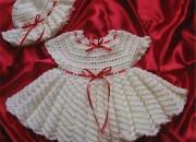 Kız bebek için örgü elbise modelleri