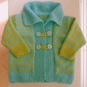 Mavi yeşil bebek hırkası