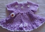 Tığ işi bebek örgü elbiseleri 1