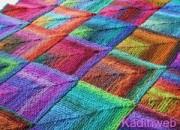 Rengarenk örgü battaniye modelleri