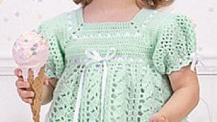 Bebek Örgü Elbise Modelleri 2014