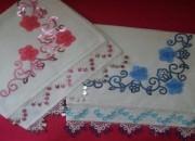 çiçek desenli havlu kenarı