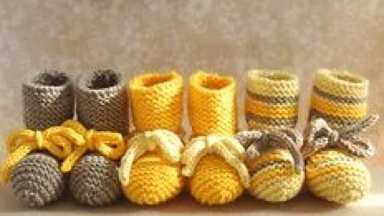Tunus İşi Bebek Patik Modelleri