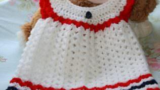 Yazlık Bebek Örgü Elbise Modelleri