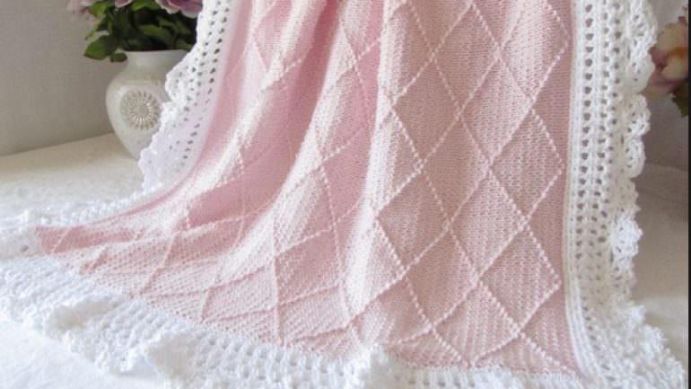Kolay Örgü Bebek Battaniye Modelleri