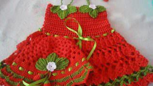 Bebek Örgü Elbise Modelleri ve Yapılışı 2016