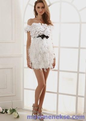 184f2f67bc58b beyaz kısa abiye elbise modelleri ve fiyatları - Kadın ve Moda