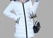 Uzun Beyaz Şişme Mont Modelleri