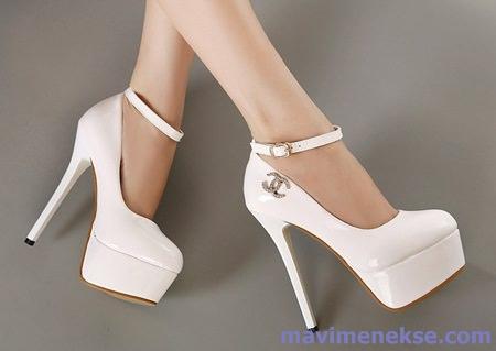 Beyaz En Yüksek Topuklu Ayakkabı Modelleri Kadın Ve Moda