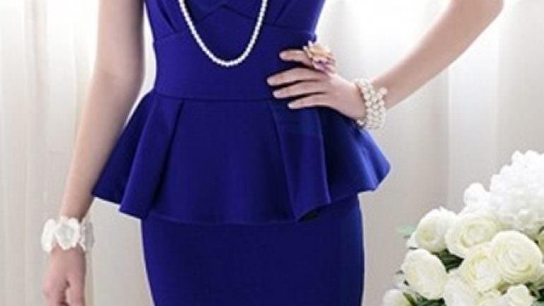 Peplum Elbise