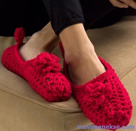 Kırmızı bayan patik modelleri