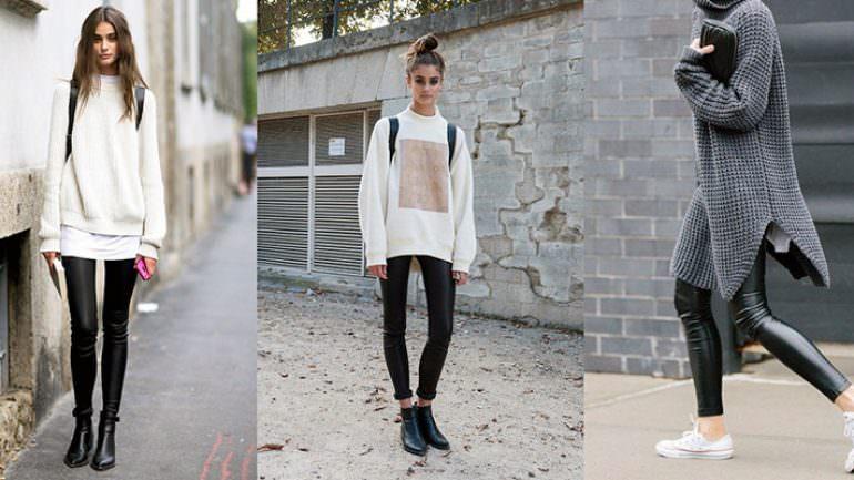 Bayan Kışlık Siyah Tayt Modelleri