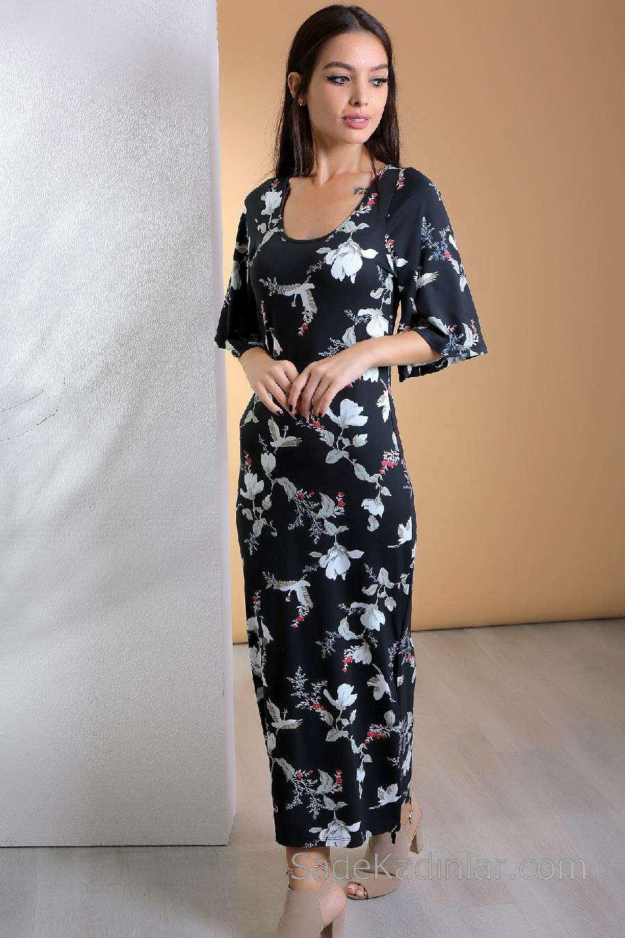 52f67fec8922a En Rahat Günlük Uzun Elbise Modelleri - Kadın ve Moda
